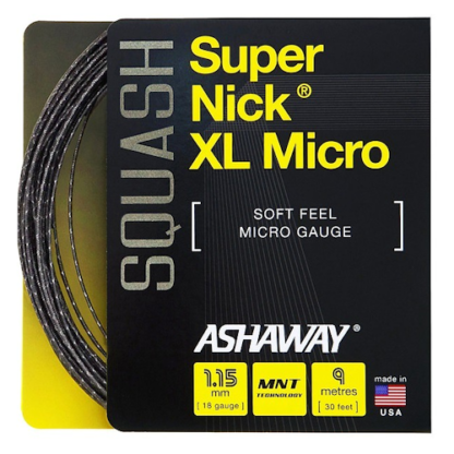 ASHAWAY SUPERNICK MICRO BLACK SQUASH STRING