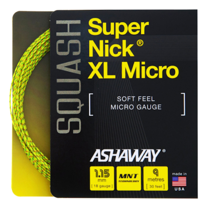 ASHAWAY SUPERNICK XL MICRO YELLOW SQUASH STRING