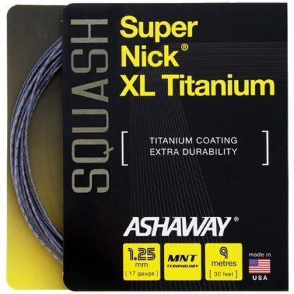 ASHAWAY SUPERNICK XL TITANIUM SQUASH STRING
