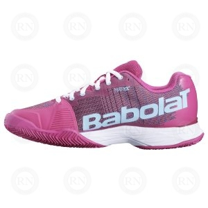 BABOLAT JET MACH I CLAY LADIES PURPLE BLUE INNER ASPECT