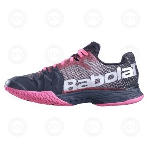 OUTER ASPECT OF BABOLAT JET MACH II LADIES PINK BLACK