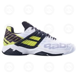 OUTER ASPECT OF BABOLAT PROPULSE FURY WHITE YELLOW
