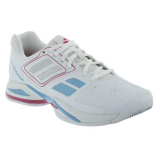 BABOLAT PROPULSE TEAM BPM ALL COURT TENNIS SHOE LADIES WHITE-PINK