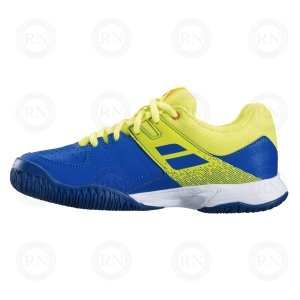 BABOLAT PULSION JUNIOR AC BLUE YELLOW INNER ASPECT