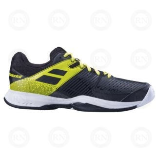 BABOLAT PULSION ALL COURT MENS TENNIS SHOES BLACK YELLOW OUTER ASPECT