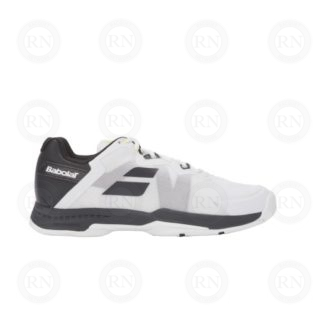 BABOLAT SFX III TENNIS SHOE BLACK SILVER OUTER ASPECT