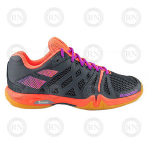 BABOLAT SHADOW TEAM ANTHR-FLUO PINK LADIES BADMINTON SHOE