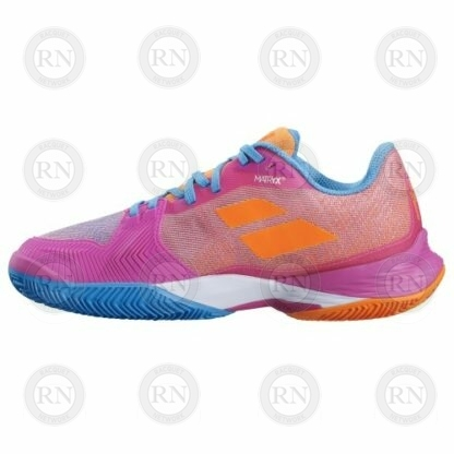 Catalog Image of Babolat Jet Mach 3 All Court Ladies Tennis Shoe Hot Pink Interior Aspect
