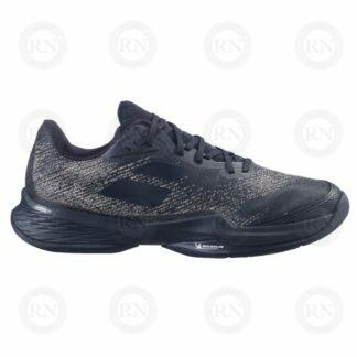 Catalog image of Babolat Jet Mach 3 All Court Tennis Shoe Black Gold Exterior Aspect