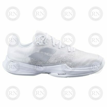 Catalog image of Babolat Jet Mach 3 All Court Tennis Shoe White Silver Exterior Aspect