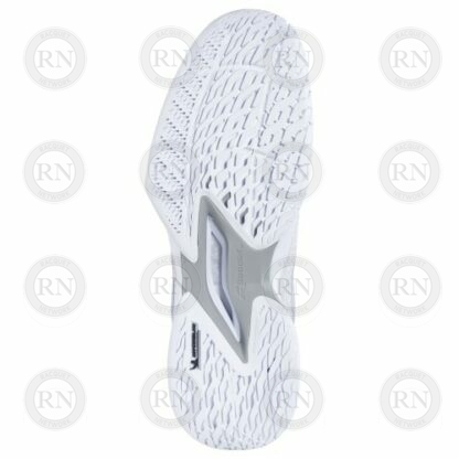 Catalog Image of Babolat Jet Mach 3 All Court Tennis Shoe White Silver Interior Aspect