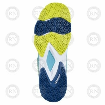 Product image showing sole of Babolat Jet Premura padel shoe