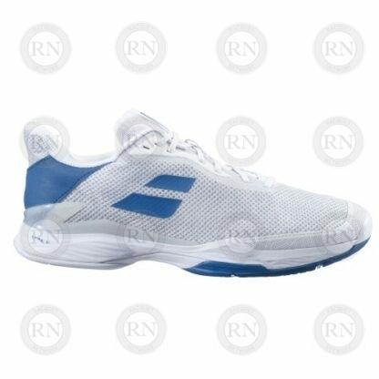 Catalog image of Babolat Jet Tere All Court Tennis Shoe White Saxony Blue Exterior Aspect