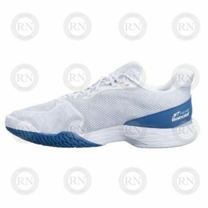 Catalog image of Babolat Jet Tere All Court Tennis Shoe White Saxony Blue Interior Aspect