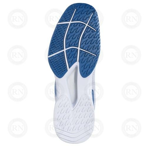 Catalog image of Babolat Jet Tere All Court Tennis Shoe White Saxony Blue Sole