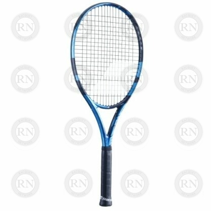 Catalog image of a Babolat Pure Drive 110 tennis racquet turned to the left