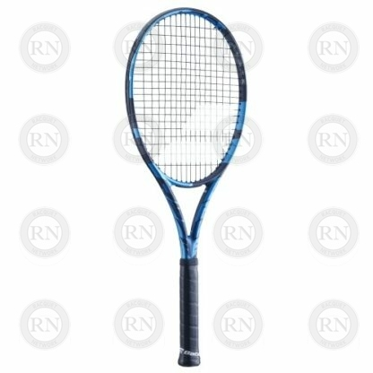 Catalog image of a Babolat Pure Drive Plus tennis racquet turned slightly to the left