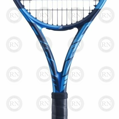 Catalog image of a Babolat Pure Drive Tennis Racquet showing closeup of the throat