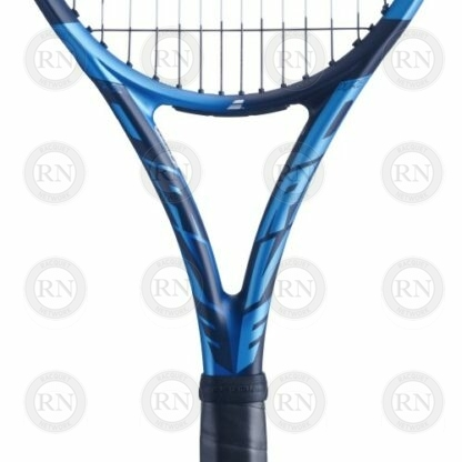 Close up of the throat of a Babolat Pure Drive Tour tennis racquet