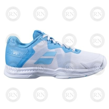 Product Knock Out: Babolat SFX3 Ladies Tennis Shoe - White Blue - Inner Aspect