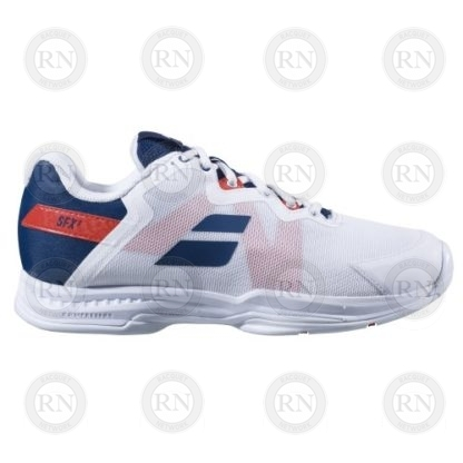 Product Knock Out: Babolat SFX3 Tennis Shoe - White Blue - Inner Aspect