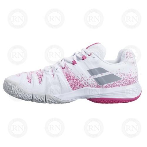 Product image showing inner aspect of Babolat Sensa Ladies padel shoe