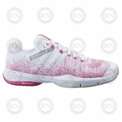 Product image showing outer aspect of Babolat Sensa Ladies padel shoe