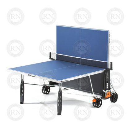 Illustration: Cornilleau 250S Outdoor Table Tennis Table Blue - Solo Game