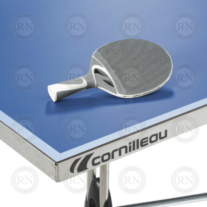 Illustration: Cornilleau 250S Outdoor Table Tennis Table Blue - Table Corner