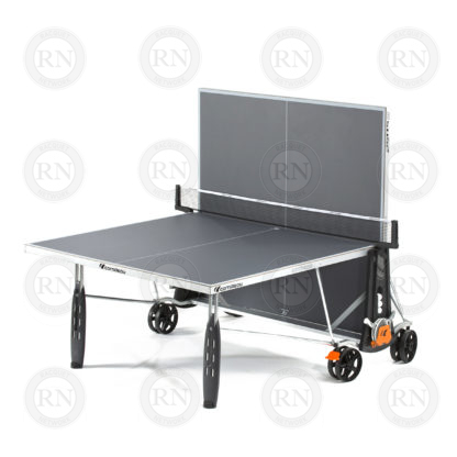 Illustration: Cornilleau 250S Outdoor Table Tennis Table Grey - Solo Game