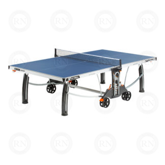 Illustration: Cornilleau 500M Crossover Outdoor Table Tennis Table - Blue Open