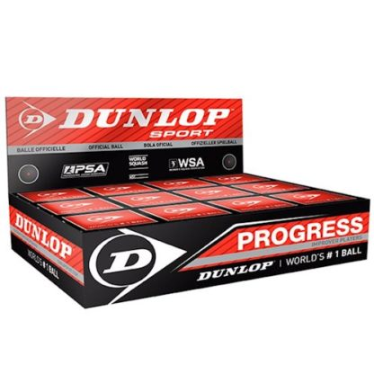 DUNLOP PROGRESS SQUASH BALL BOX