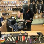 We offer Sergetti method tennis racquet stringing in our Calgary store.