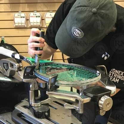 Stringing Squash Racquets in our Calgary Store