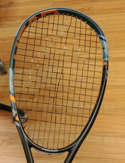 Squash Racquet Wear Break