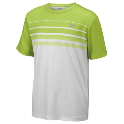Junior Boys Wilson T-Shirt Bright Green and White