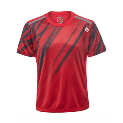 Junior Boys Wilson T-Shirt Red and Black