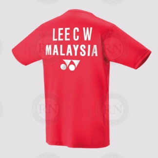 Yonex Replica Shirt 16349 Chong Wei Sunset Red Back