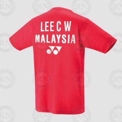 Yonex Replica Shirt 16349 Chong Wei Sunset Red Back
