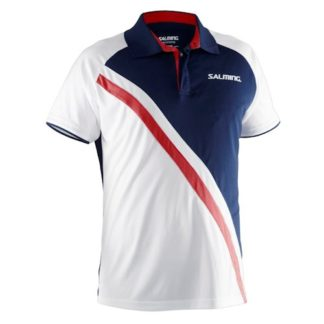 SALMING PERFORMANCE POLO NAVY-WHITE