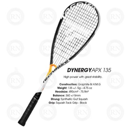 Product Specifications: Tecnifibre Dynergy APX 135 Squash Racquet Specifications