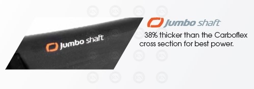 Product Technology Illustration: Tecnifibre Jumbo Shaft Squash Racquet Technology