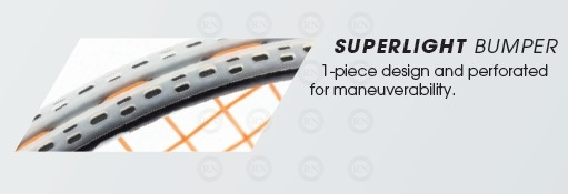 Product Technology Illustration: Tecnifibre Super Light Bumper Squash Racquet Technology