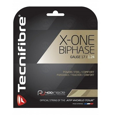 Tecnifibre X-One Biphase Tennis String 17 Gauge Natural