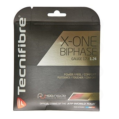 Tecnifibre X-One Biphase Tennis String 17 Gauge Red