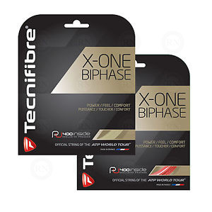 Tecnifibre X-One Biphase Tennis String Red and Natural