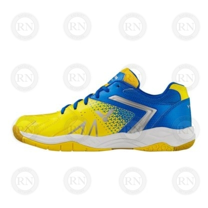 Product Knock Out: Victor AS36 Wide Badminton Shoe Yellow Blue Inner Aspect