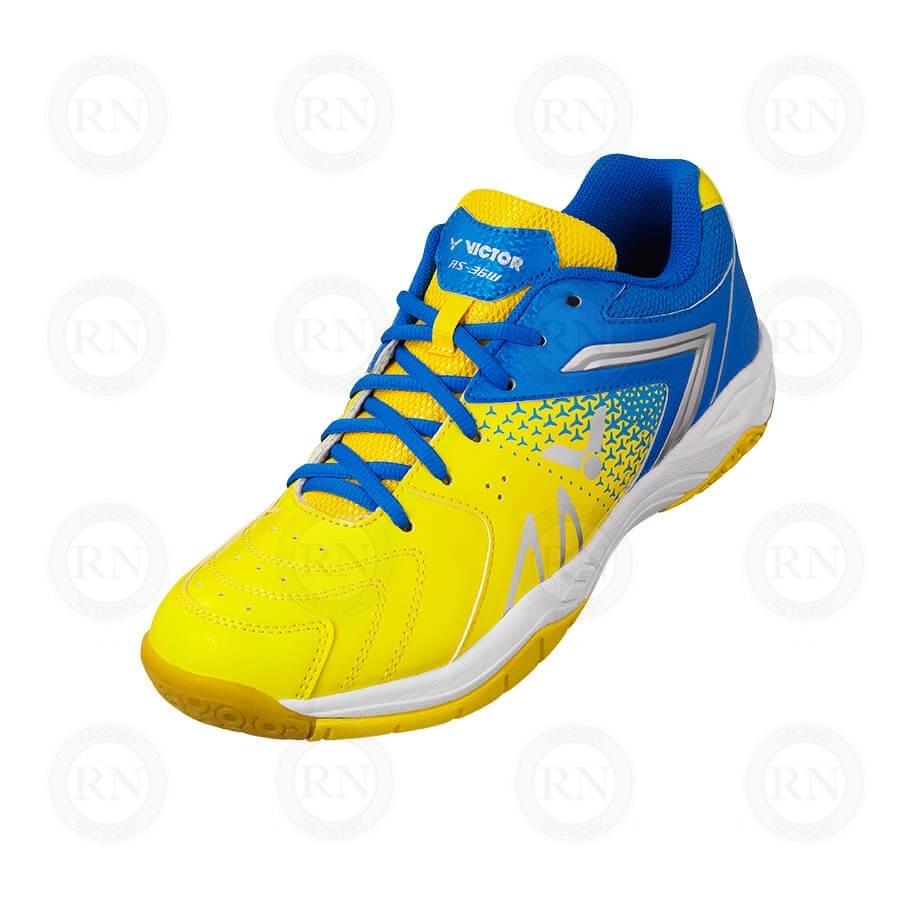 Victor AS36 Wide (4E) Badminton Shoe (Yellow/Blue)