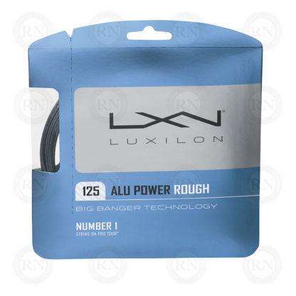 WILSON LUXILON ALU POWER ROUGH 125 SILVER TENNIS STRING SET
