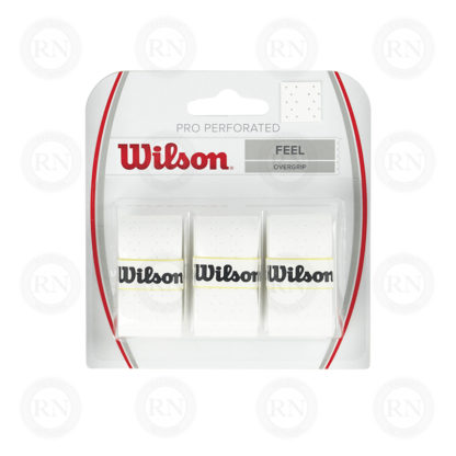 WILSON PRO OVERGRIP PERFORATED WHITE TENNIS GRIP
